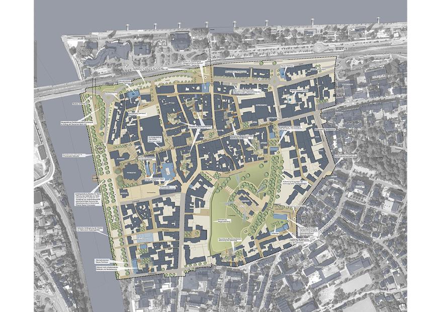 Bingen Integriertes Städtebauliches Entwicklungskonzept ISEK Rahmenplan Karte Konzeption Planung