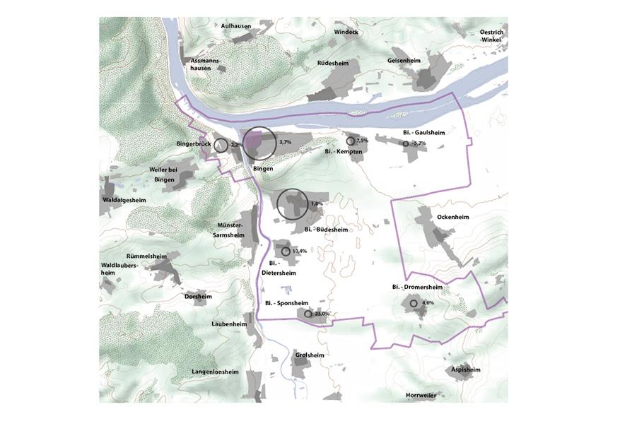Bingen Integriertes Städtebauliches Entwicklungskonzept ISEK Bevölkerung Siedlung Siedlungsentwicklung Karte