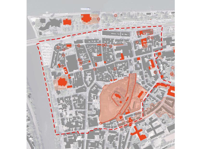 Bingen Integriertes Städtebauliches Entwicklungskonzept ISEK Denkmal Ensemble Denkmalzonen Karte