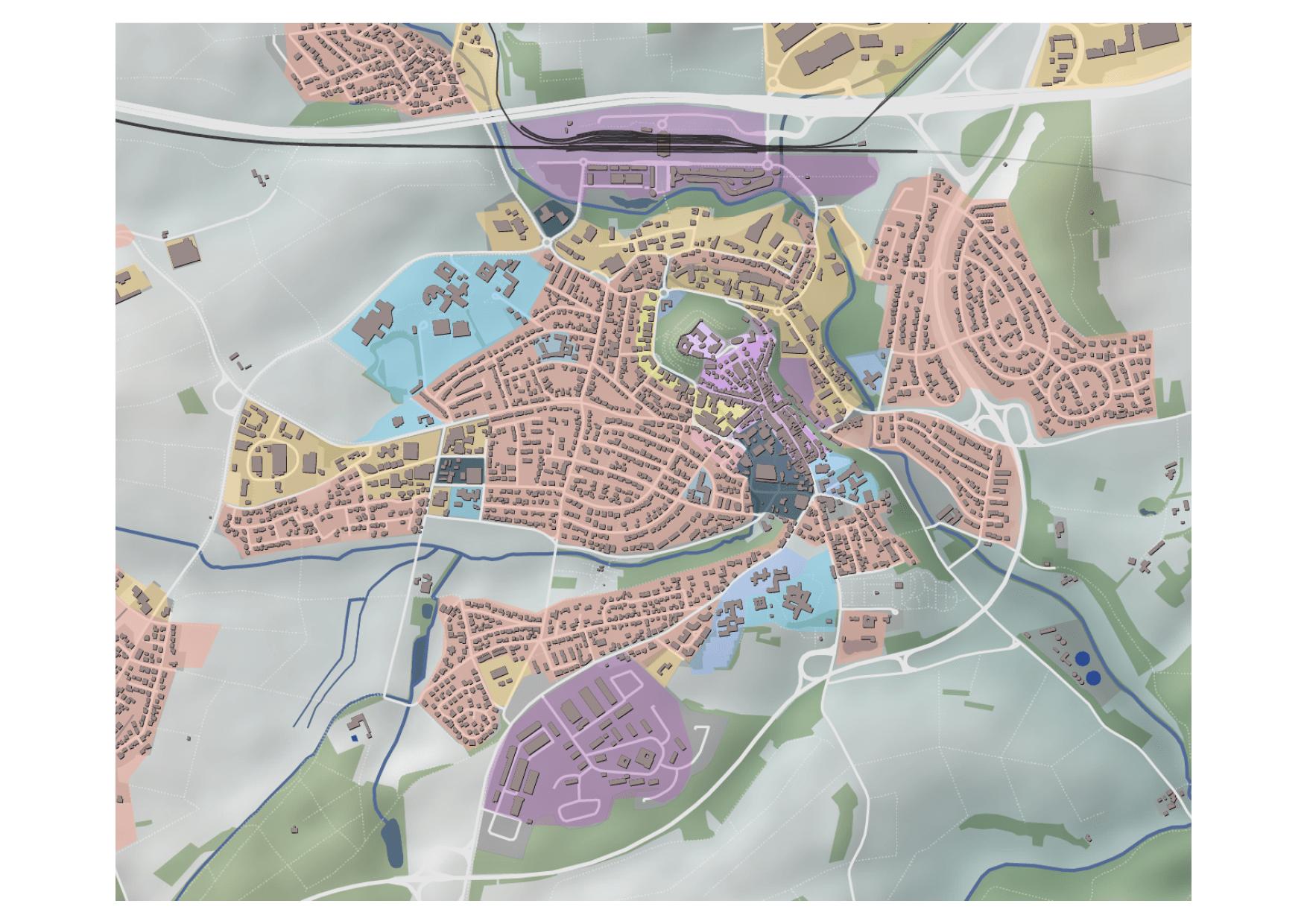 Montabaur Integriertes Städtebauliches Entwicklungskonzept ISEK Stadtbereiche Stadtgliederung Karte
