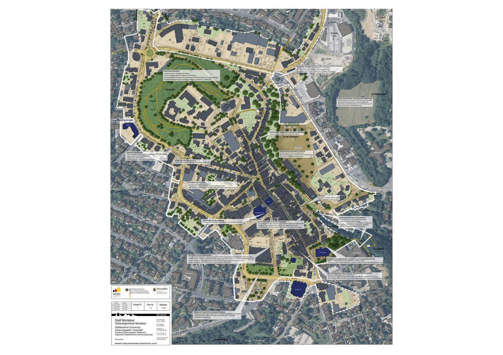 Montabaur Integriertes Städtebauliches Entwicklungskonzept ISEK Rahmenplan Städtebau Entwicklungskonzept Karte