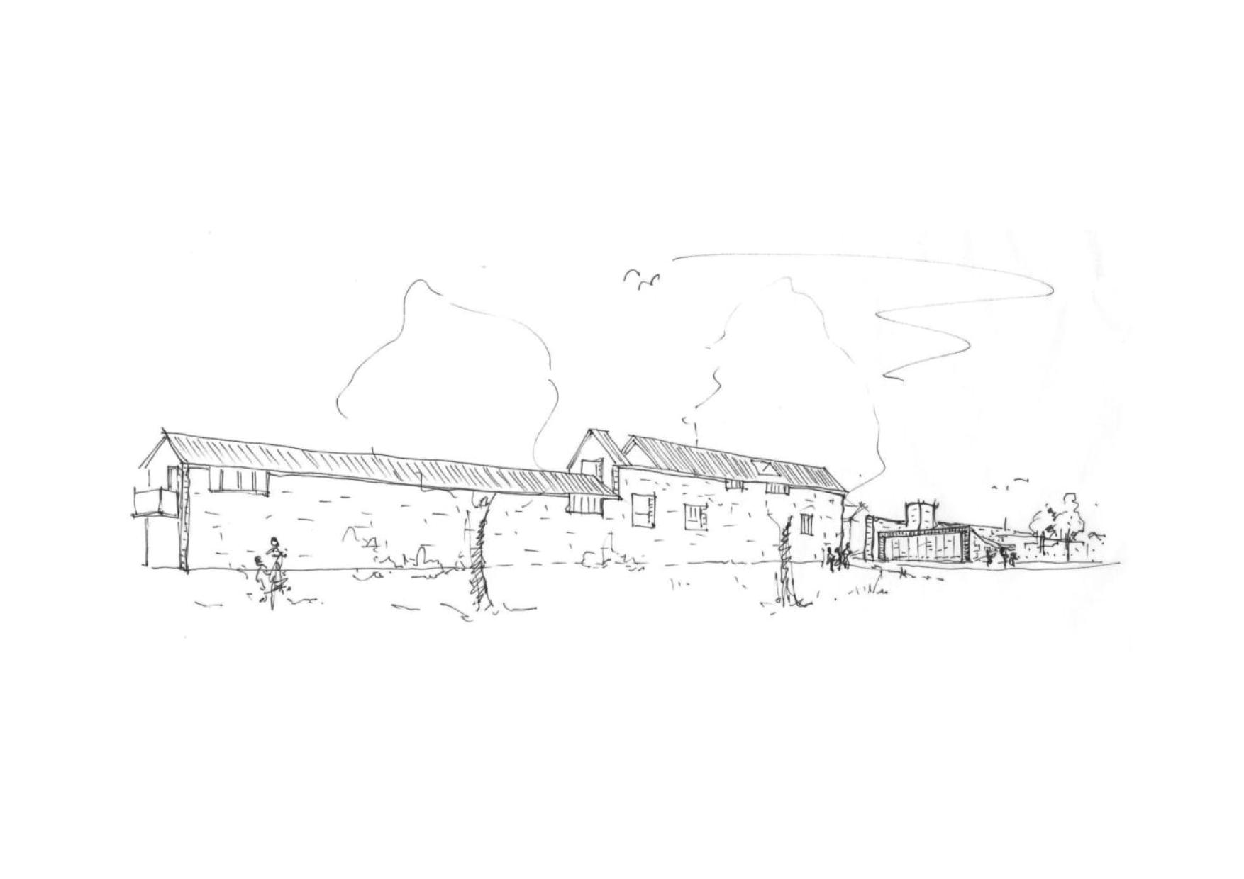 Montabaur Integriertes Städtebauliches Entwicklungskonzept ISEK Vorentwurf Skizze Neubau Biergasse Skizze Entwurf