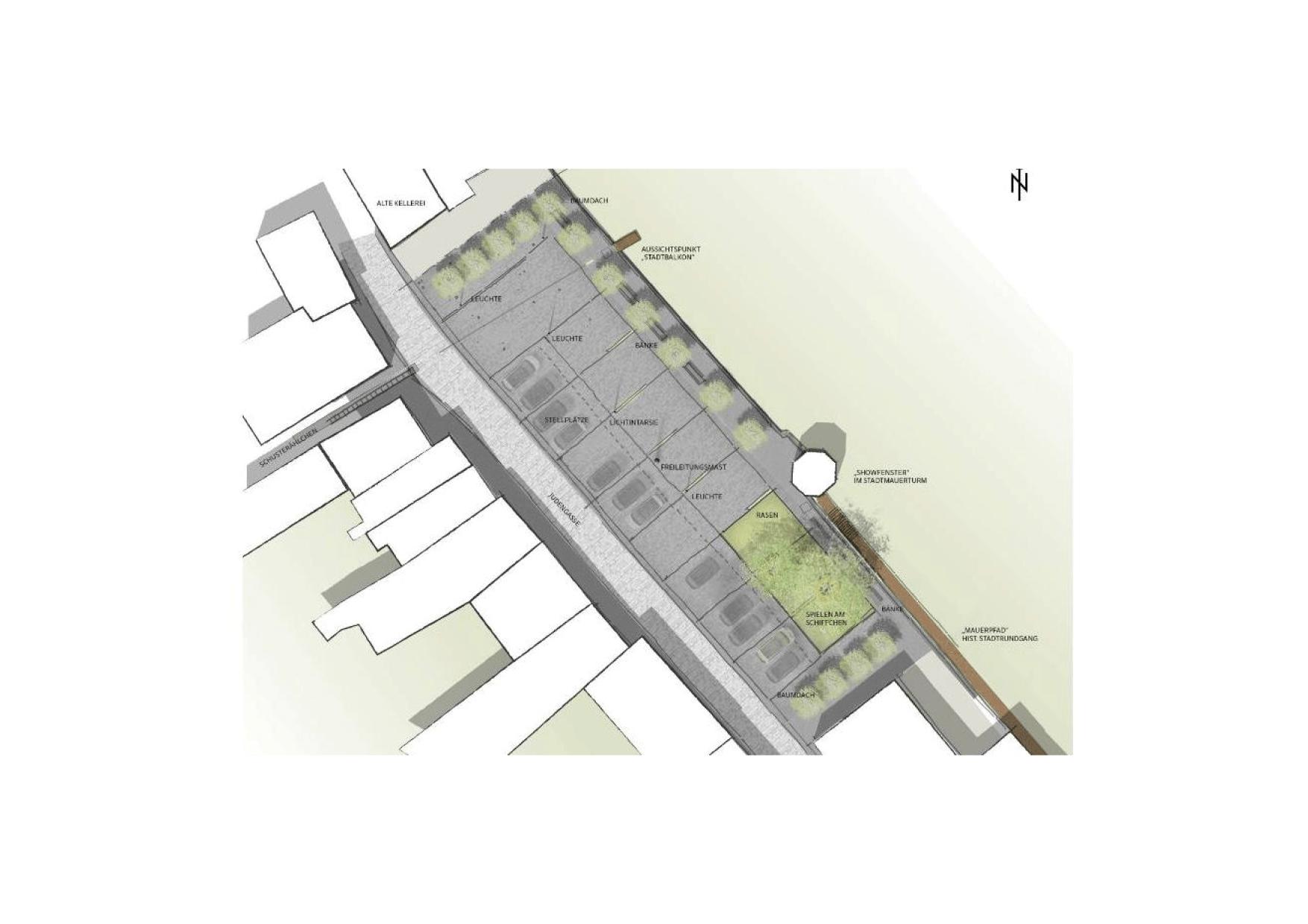 Montabaur Integriertes Städtebauliches Entwicklungskonzept ISEK Entwurf Skizze Platz Gestaltung