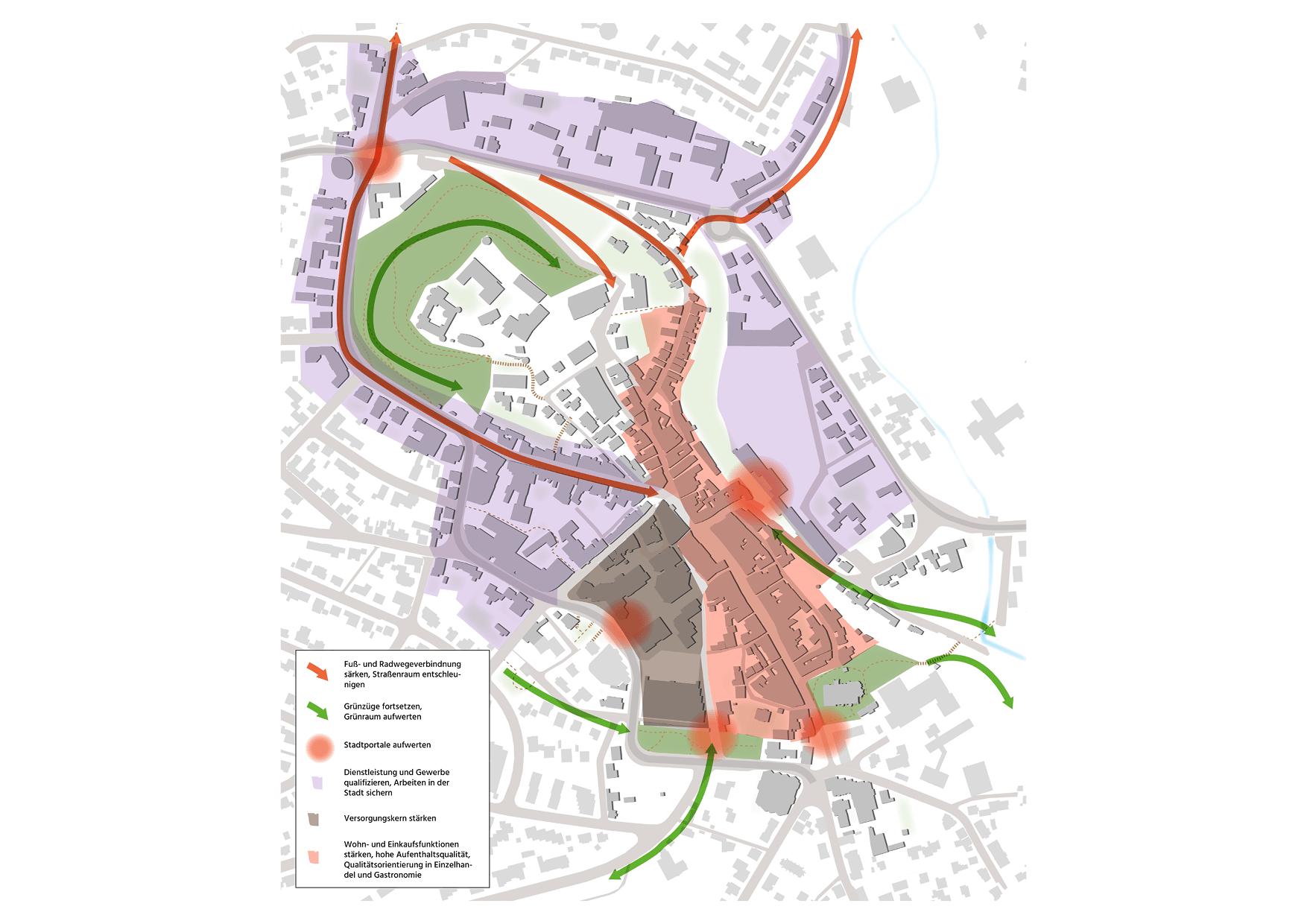 Montabaur Integriertes Städtebauliches Entwicklungskonzept ISEK räumliches Leitbild Innenstadtentwicklung Planung Konzept