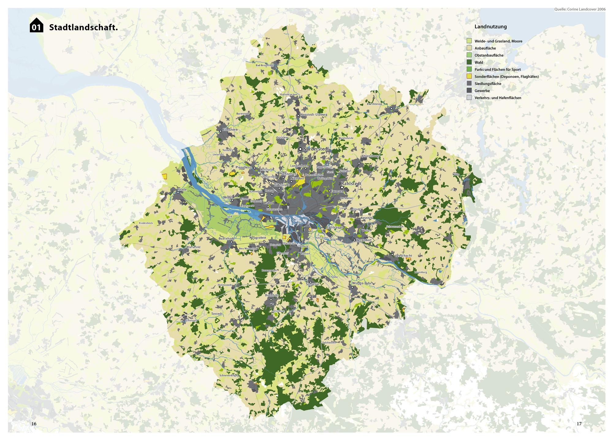 Suburbia Atlas Hamburg Stadtlandschaft Landnutzung Karte