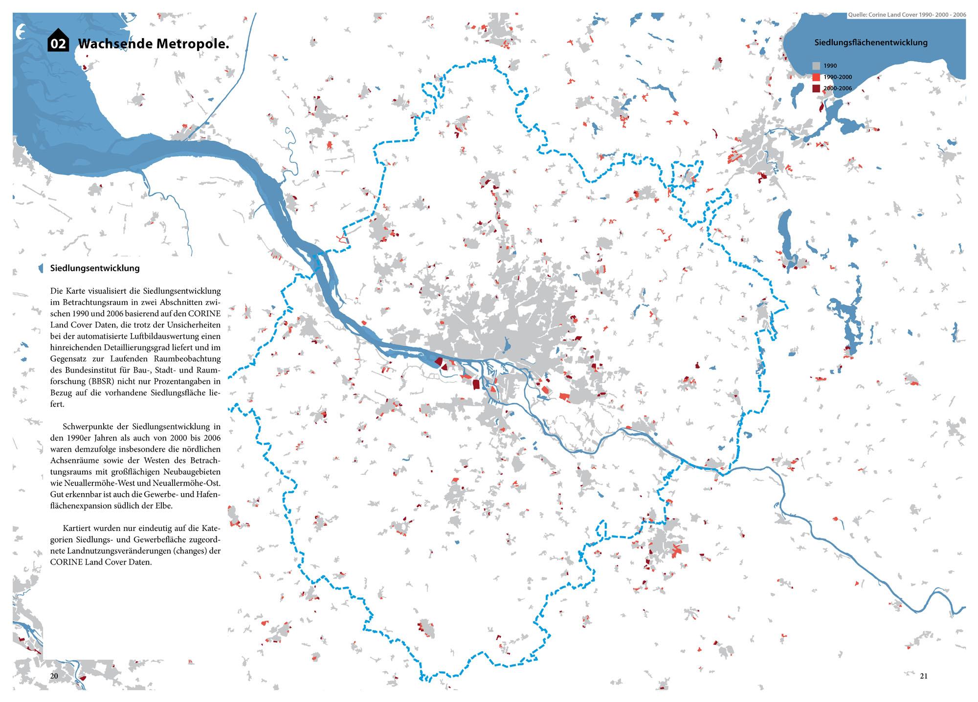 Suburbia Atlas Hamburg Siedlungsentwicklung Siedlungsflächen Wachsende Metropole Karte