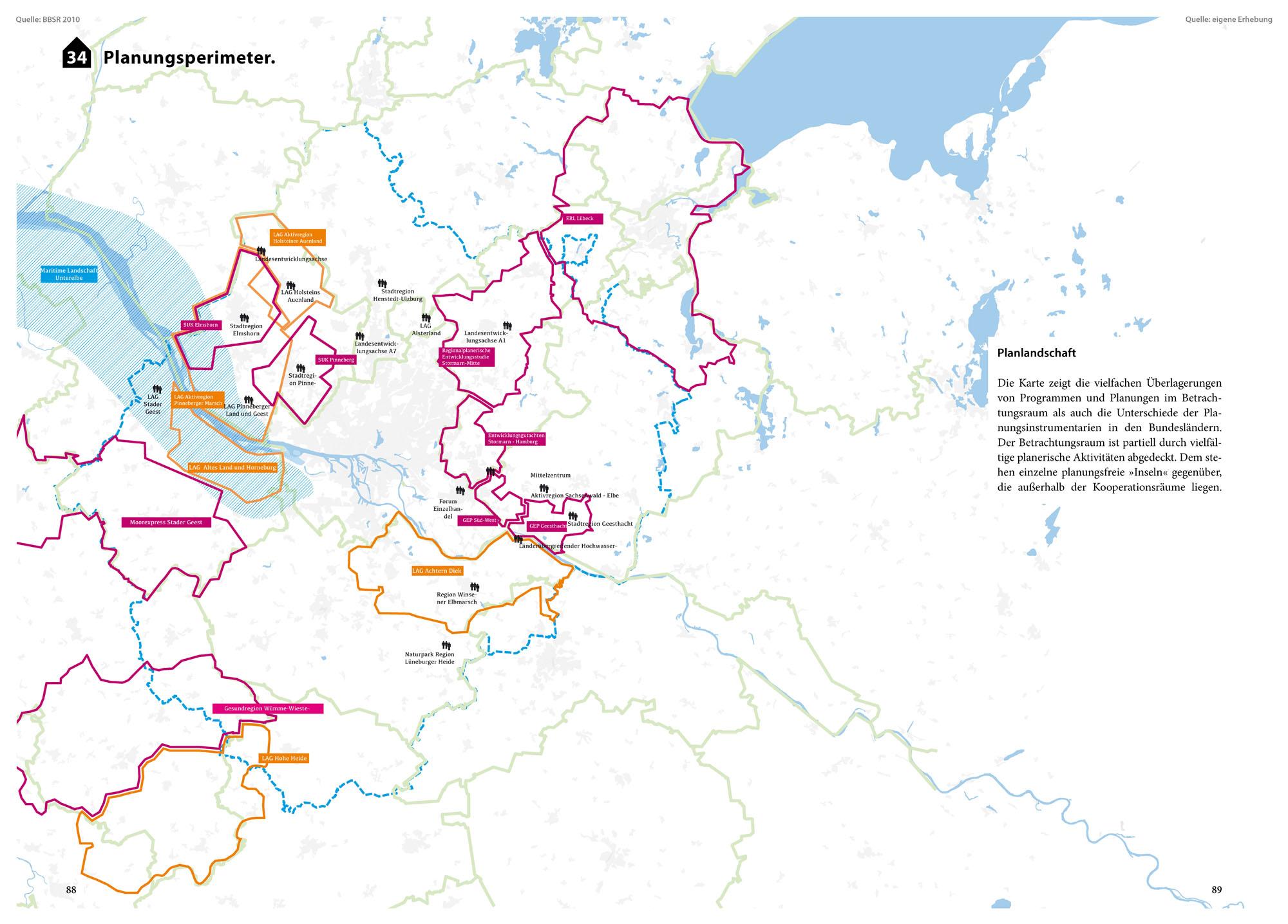 Suburbia Atlas Hamburg Planungsperimeter Planung Planlandschaft Karte