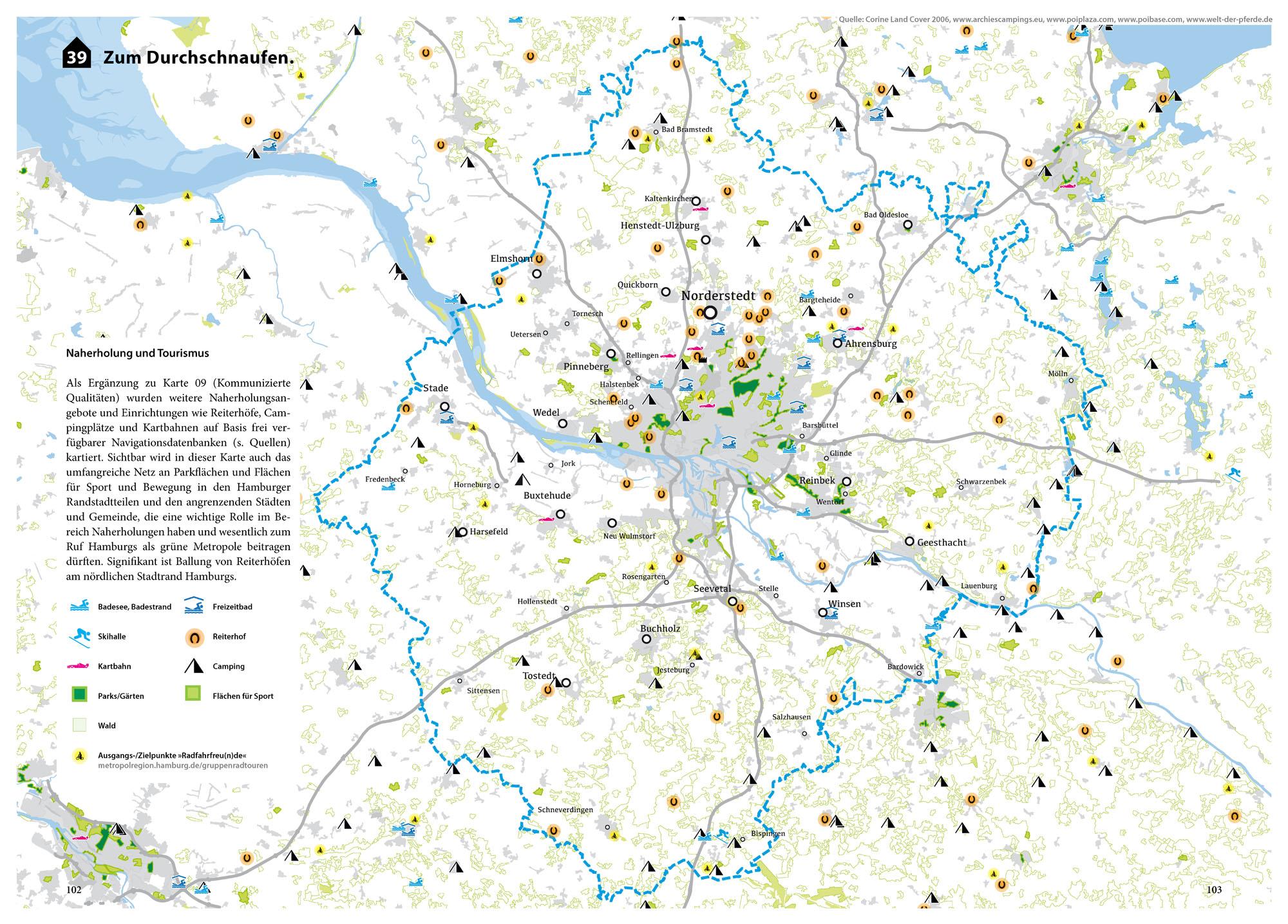 Suburbia Atlas Hamburg Stadteingang Typologien Vorort Karte Freizeit Naherholung Tourismus Karte