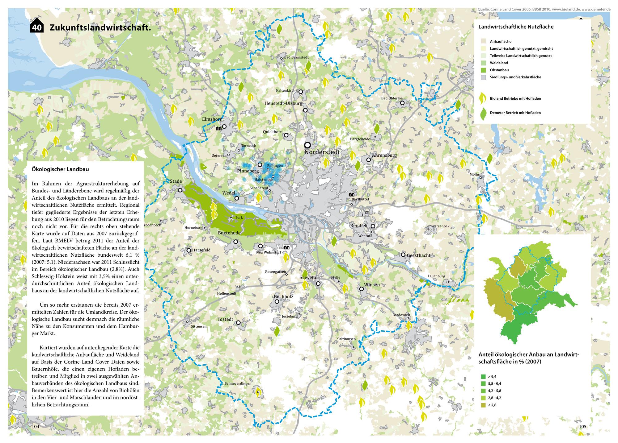 Suburbia Atlas Hamburg Stadteingang Typologien Vorort Karte Landwirtschaft Ökologie Landbau Karte