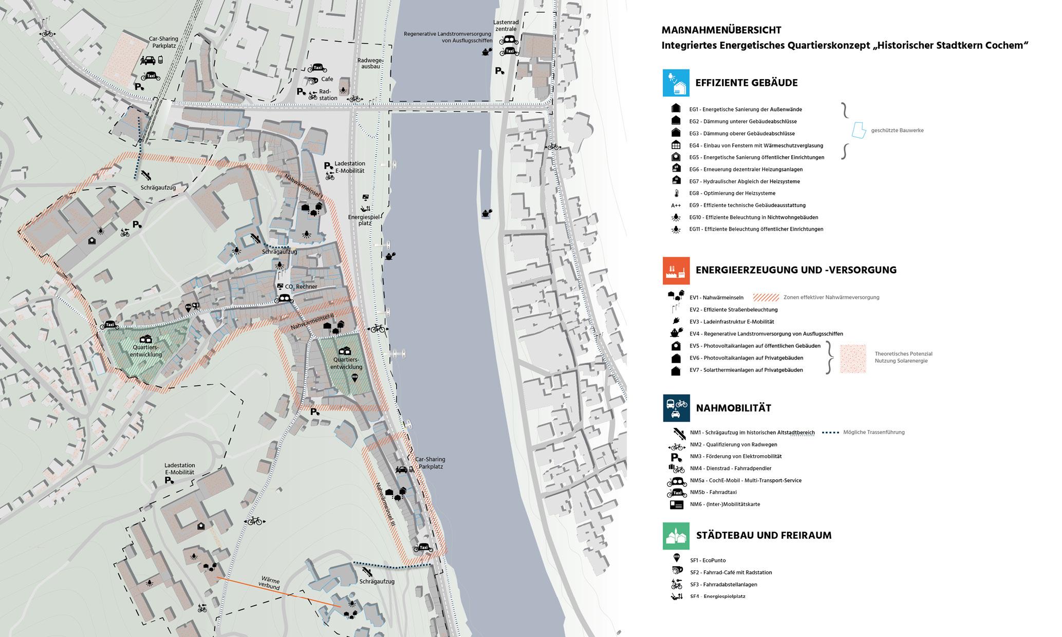 Cochem Integriertes Energetisches Quartierskonzept Maßnahmen Übersicht Karte