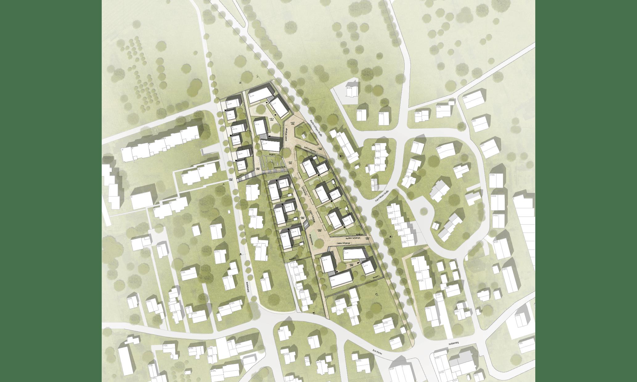 Konstanz Litzelstetten Marienweg Wettbewerb Lageplan Plan