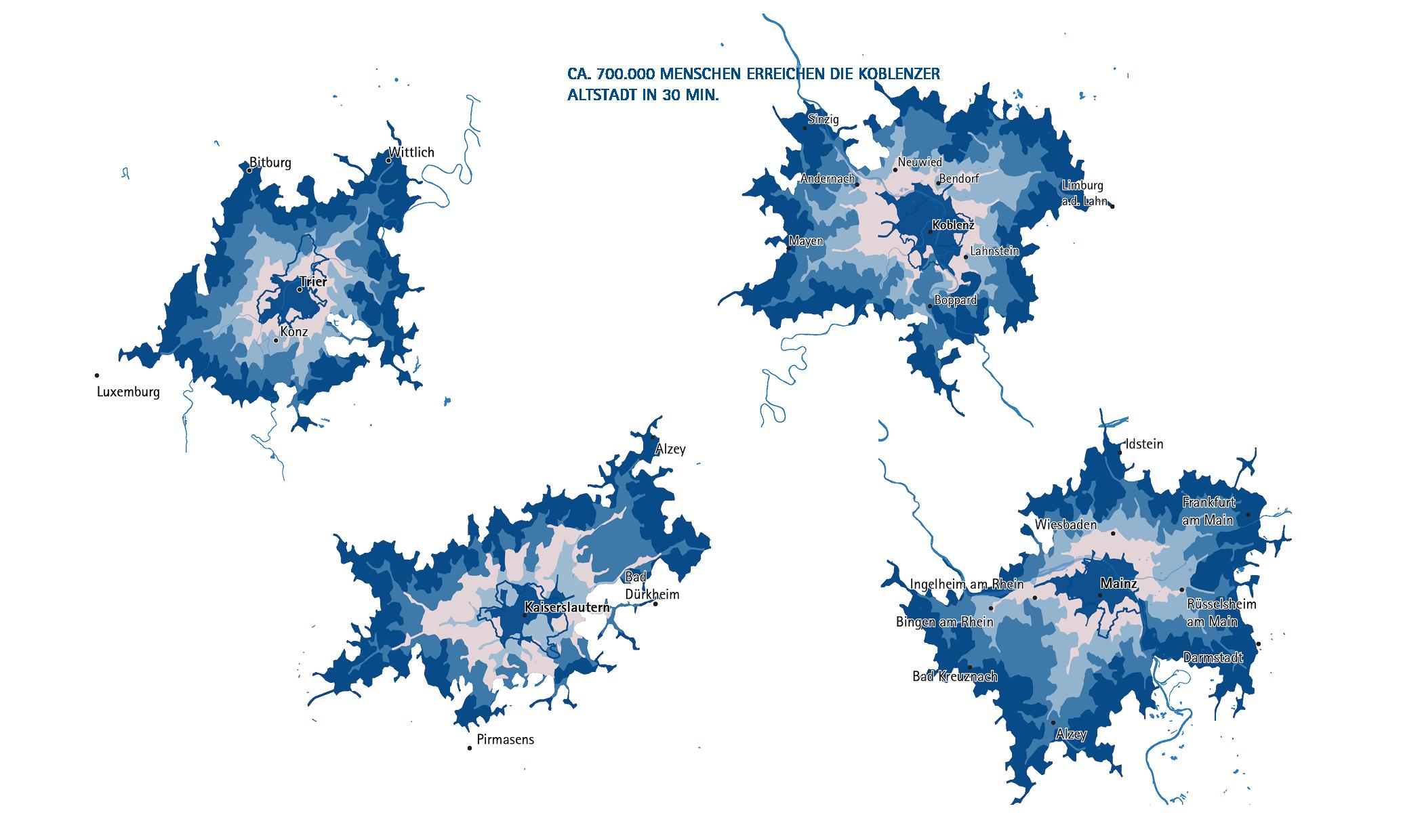 Zahlreiche vergleiche zu Städten Trier, Mainz und Kaiserslautern