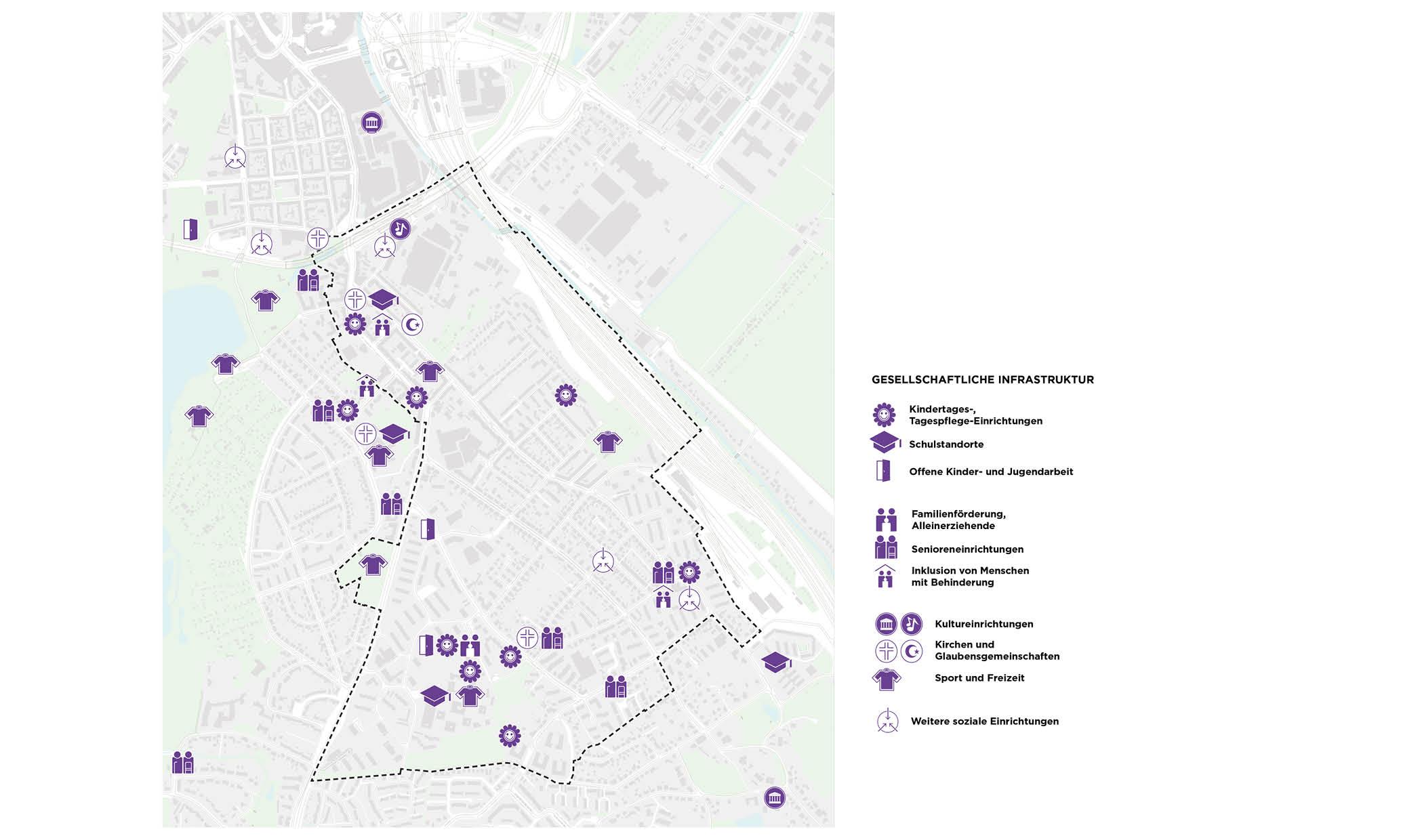 PPA Wilstorf Gesellschaftliche Infrastruktur Karte