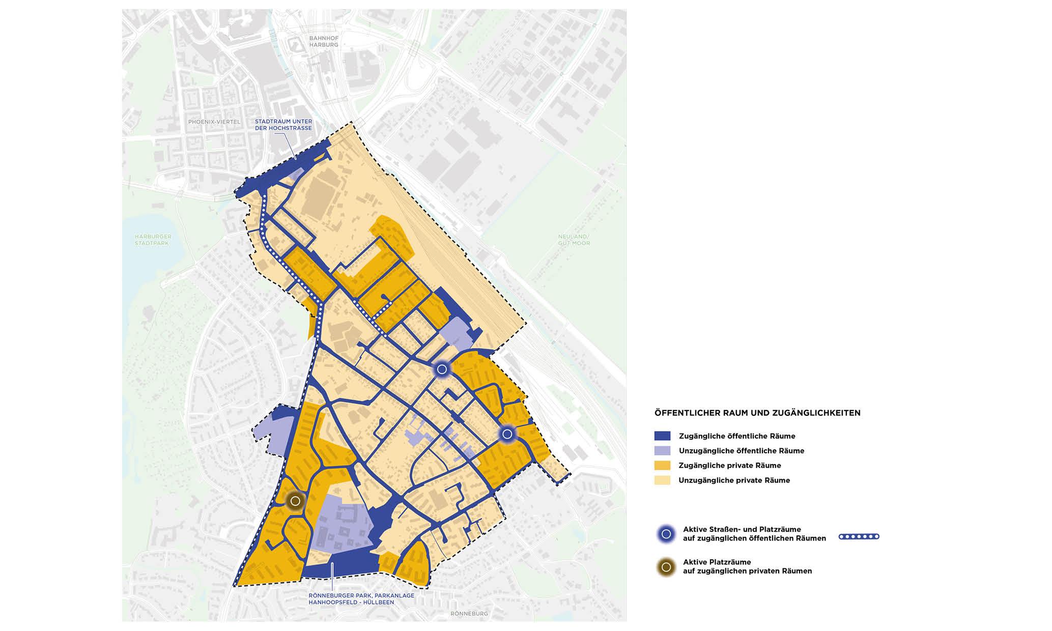 PPA Wilstorf Öffentlicher Raum Zugänglichkeit Karte