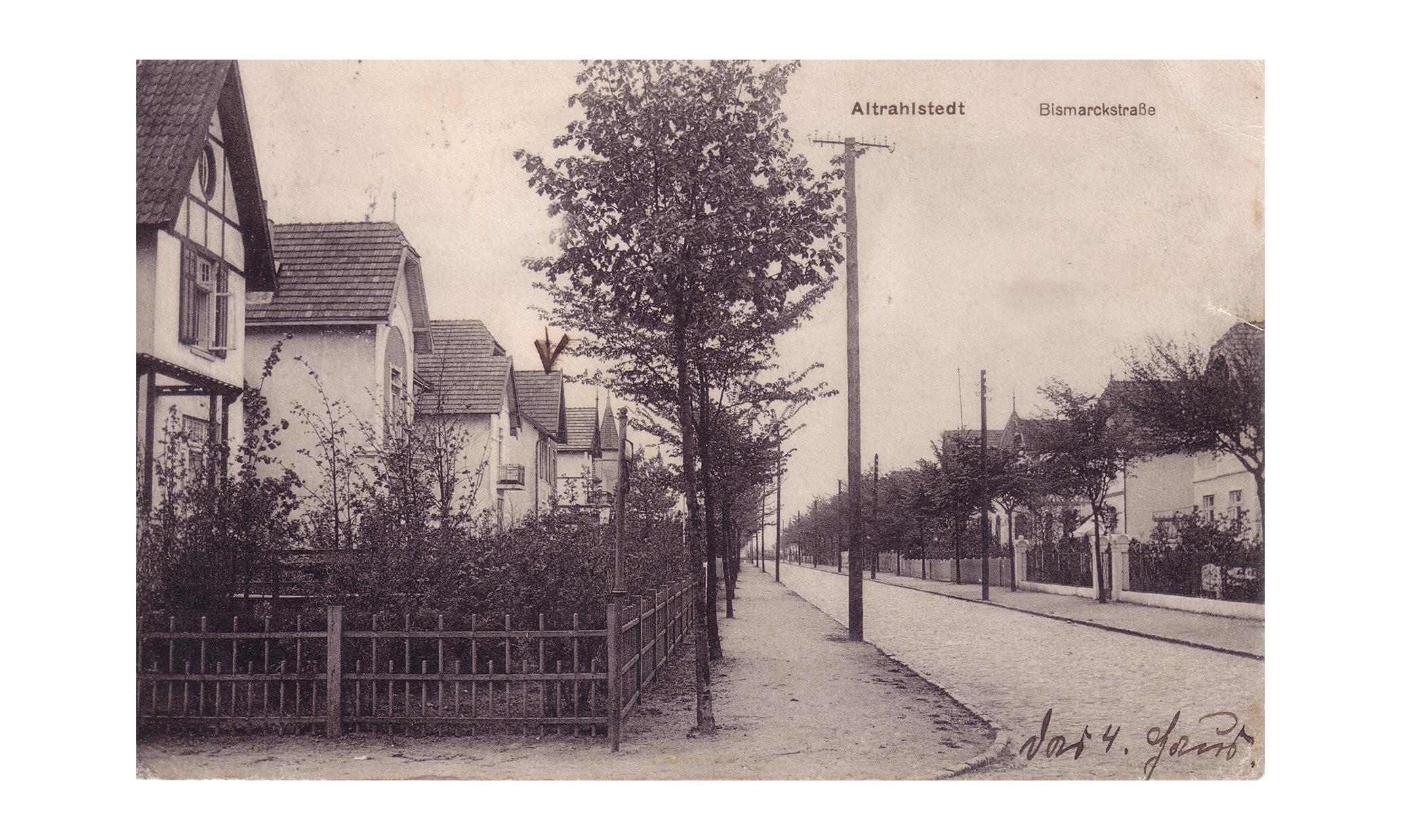 Altrahlstedt Paalende Bismarckstraße historische Villenbebauung
