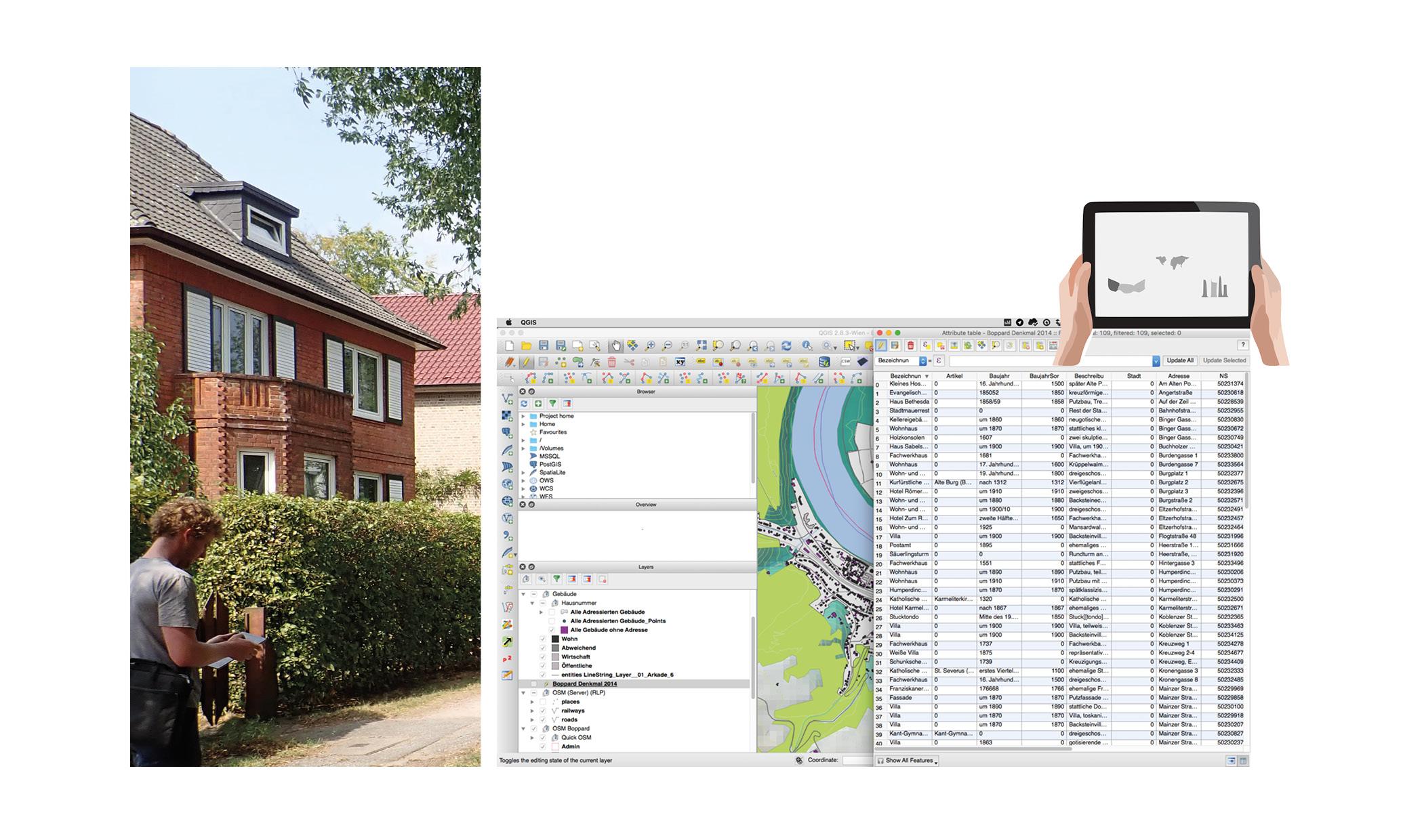 Rahlstedt GIS Datenaufnahme vor Ort Bestandsaufnahme