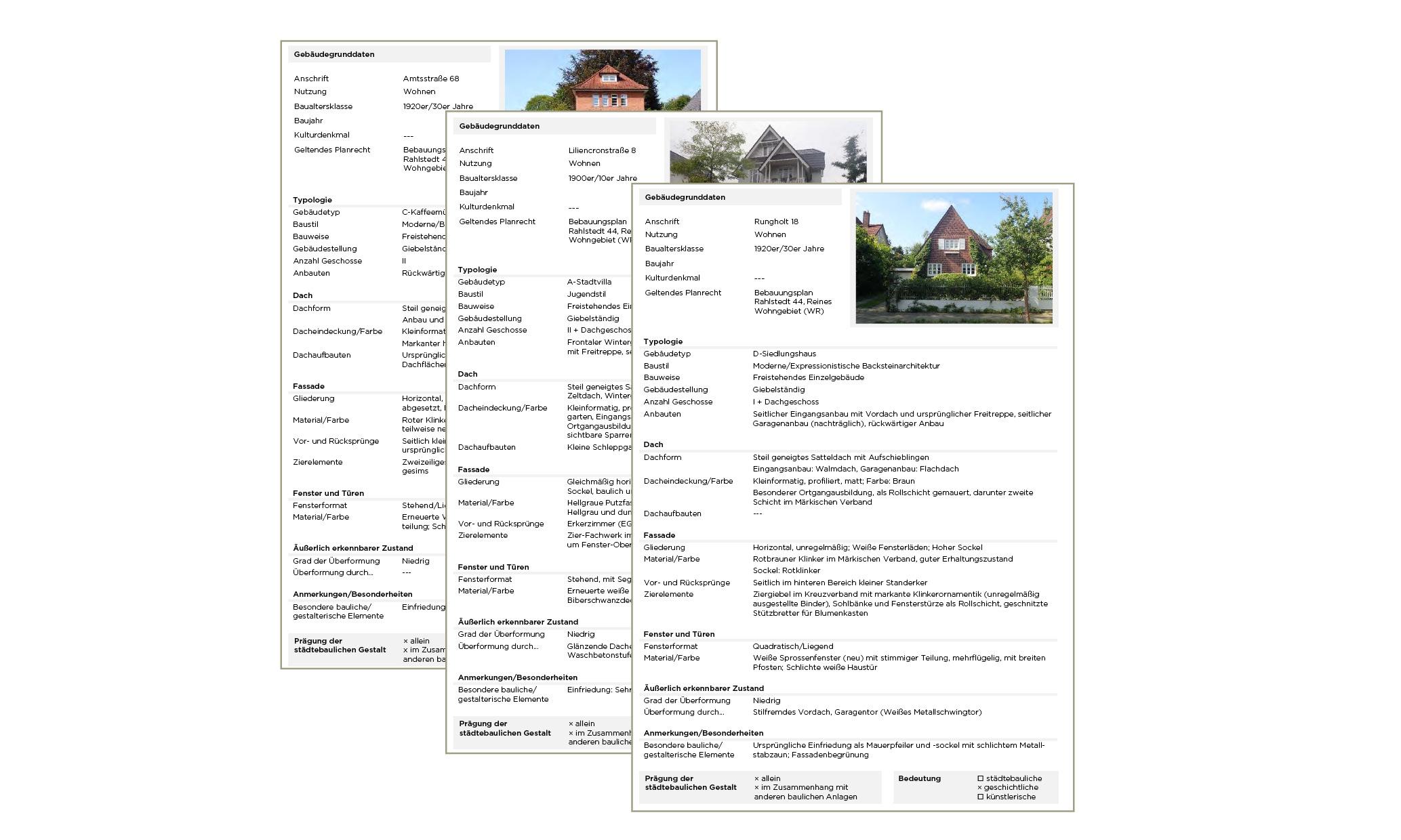 Rahlstedt Steckbriefe Gebäude Gestaltmerkmale Bedeutung Stadtbild