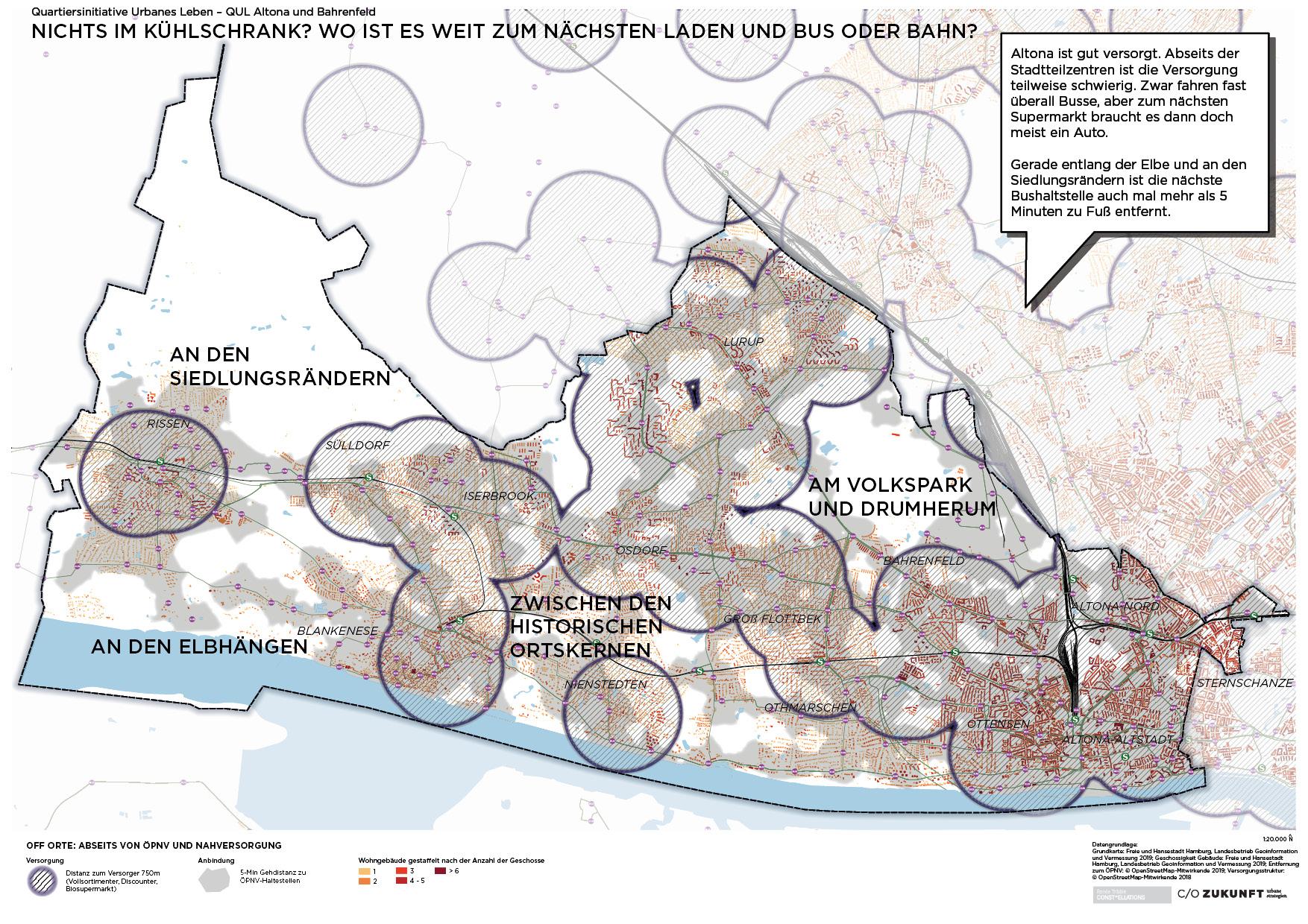Off Orte: Abseits von ÖPNV und Nahversorgung in Altona